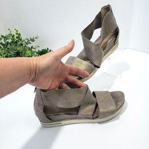 Eileen Fisher Shoes - EILEEN FISHER Sport Platform sandal Sz 11 Leather